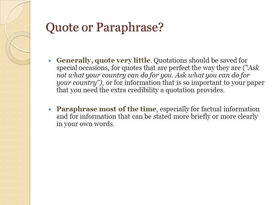 sample essay for summarizing paraphrasing and quoting