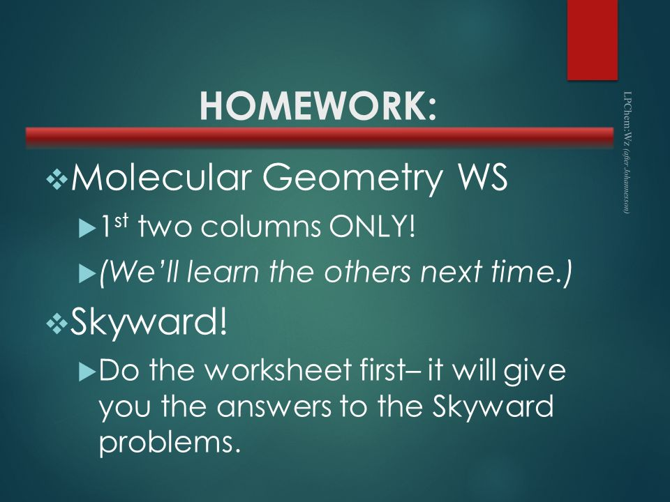 Molecular geometry worksheet high school
