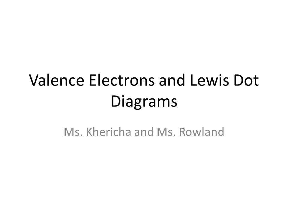 Valence Electrons And Lewis Dot Diagrams Ppt Video Online Download