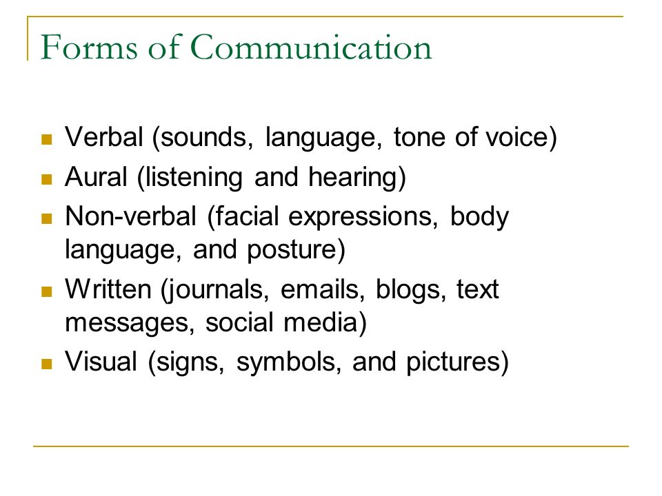 verbal and nonverbal communication and listening