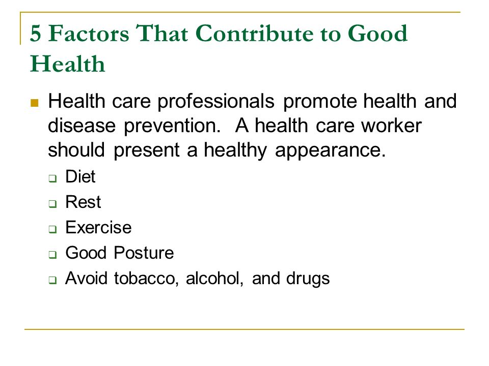 factors of good health pdf