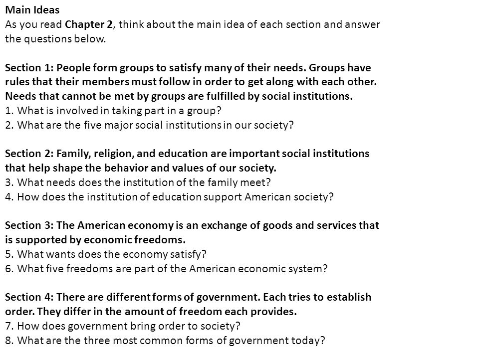 the three main economic questions The 3 major economic questions:  an economic system in which economic decisions are made by the state or government rather than by the  three economic questions.