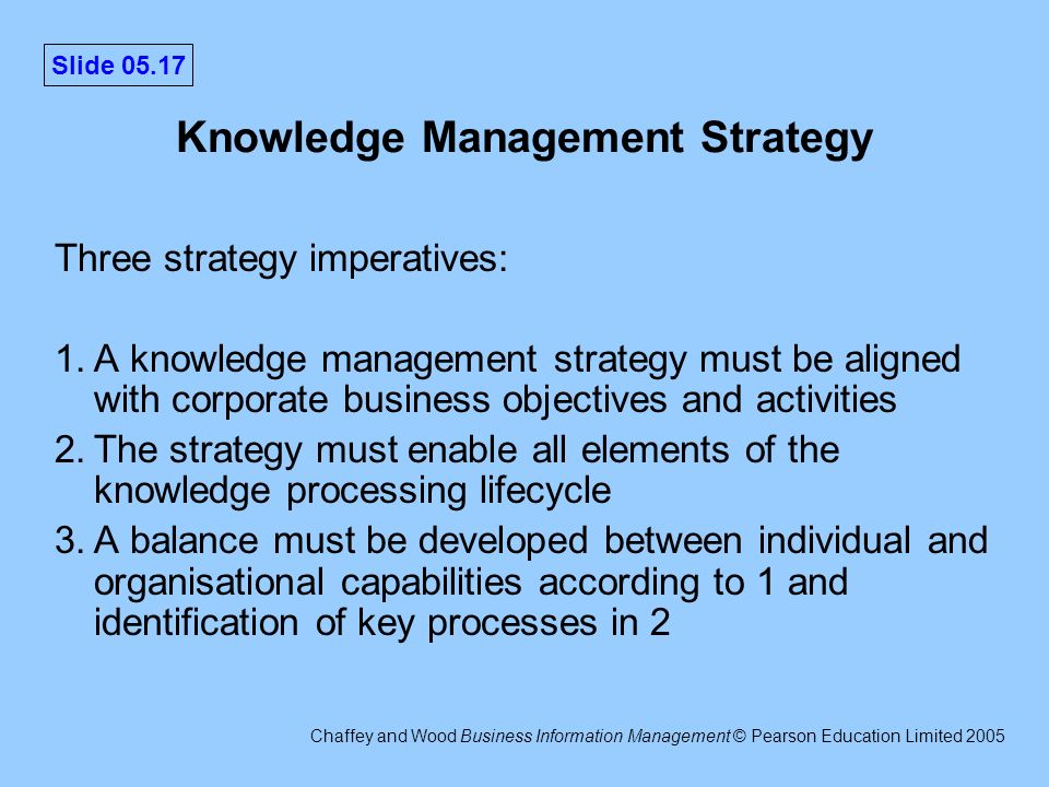 objectives of knowledge management pdf