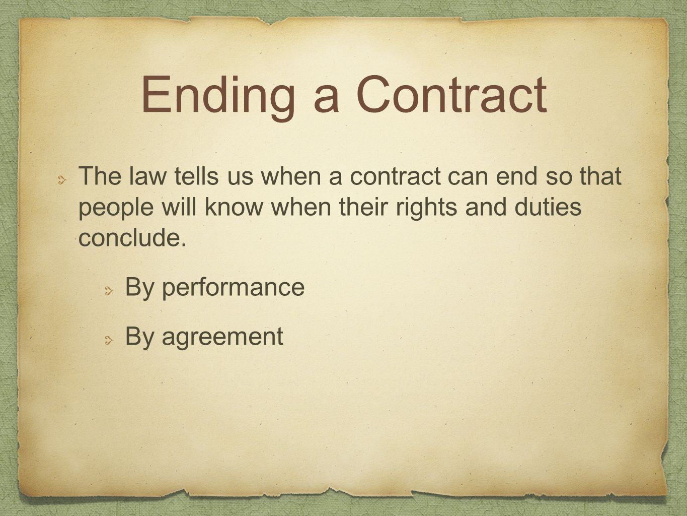 Conclude contract law essay