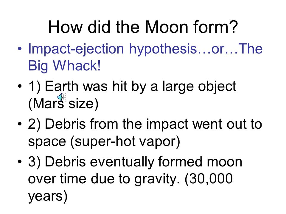 The Moon. - ppt download