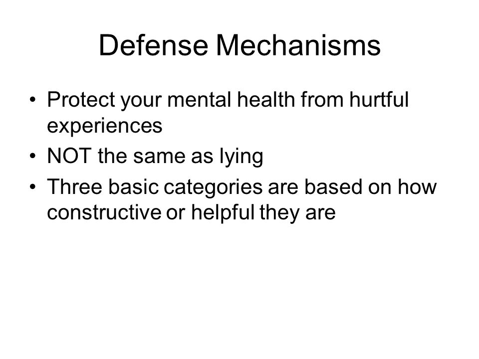 defense mechanisms in mental health This is an example of what defense mechanism  james's favorite uncle  passes away from a long battle with illness, but he refuses to believe.