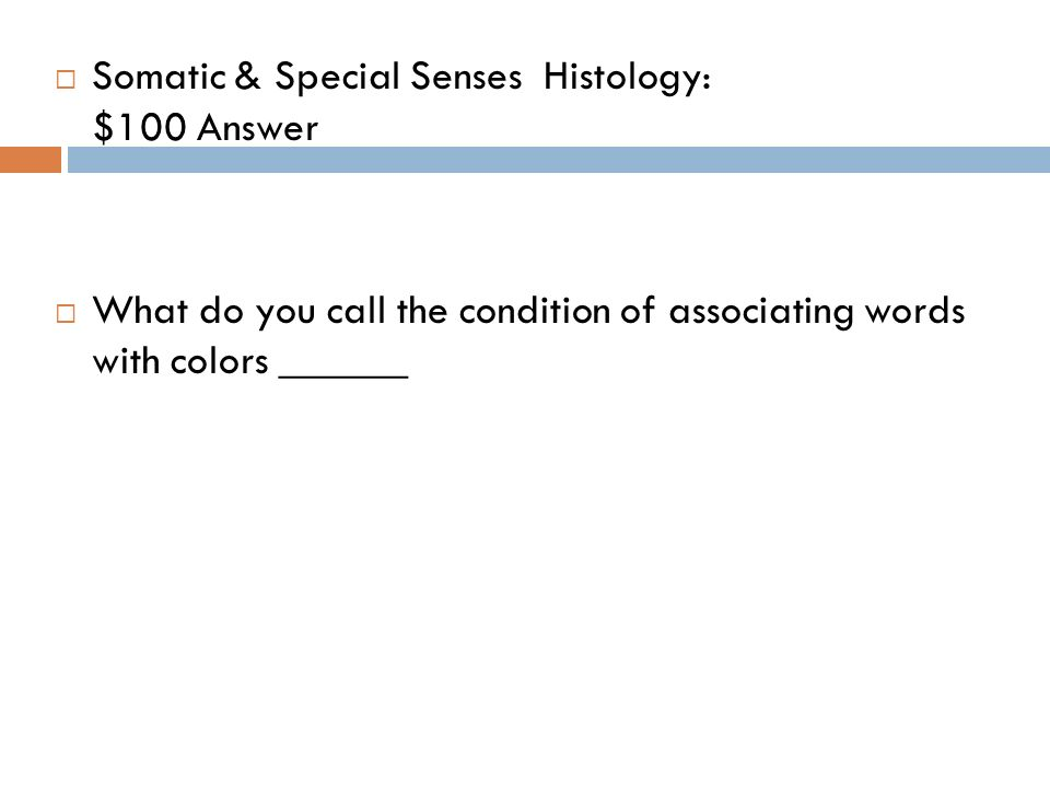 Chapter 10 Somatic & Special Senses - ppt video online download