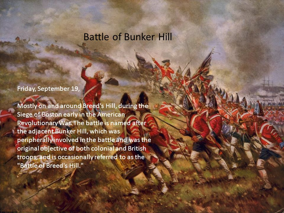 an overview of the battle of bunker hill Overview bunker hill you are here washington assumed command in cambridge, massachusetts within two weeks of the erroneously-named battle of bunker hill.