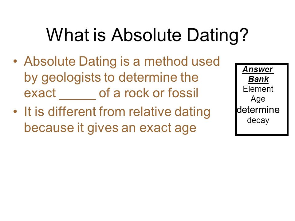 Dating Fossils in the Rocks