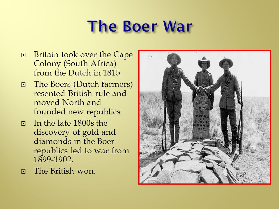 great britains win in the boer war in south africa Opposition to the second boer war great britain edit auld, john w the south african war: the anglo-boer war 1899–1902.