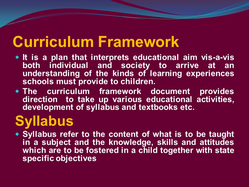 What is the national curriculum framework education essay