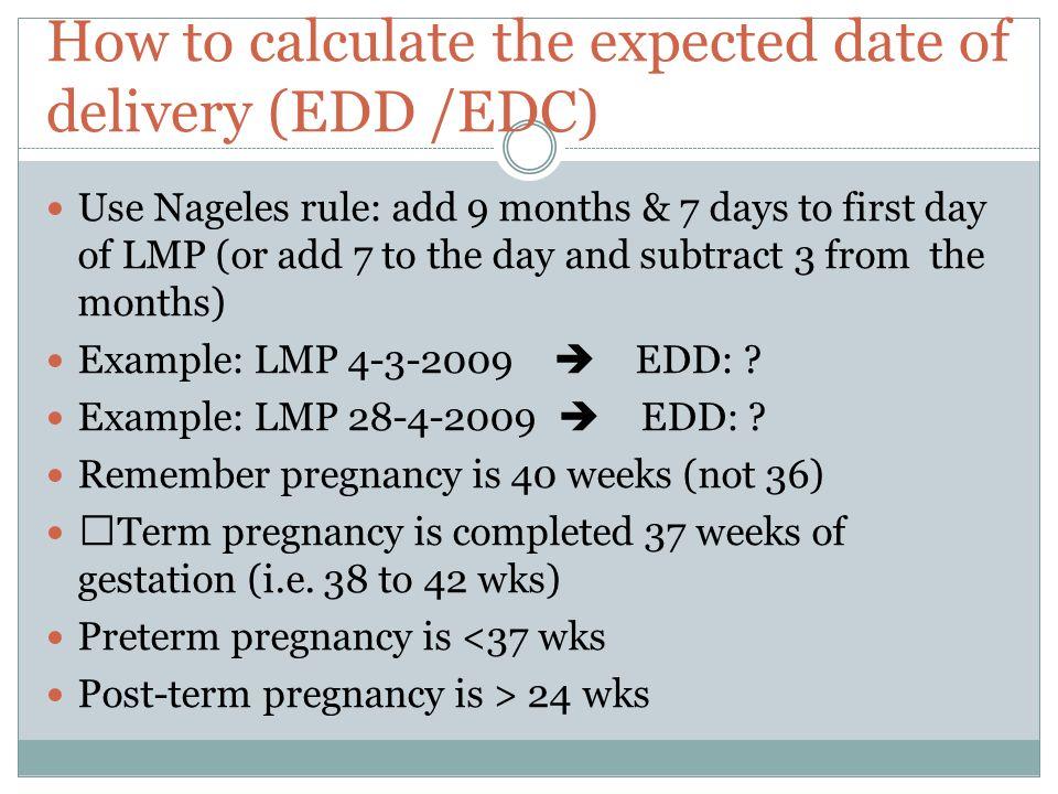 Pregnancy edc calculator
