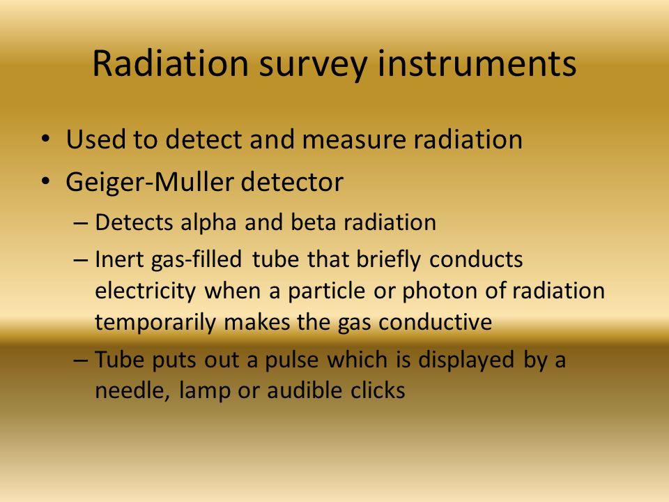 Radiation Measurement Instruments : Stacy kopso m ed rt r ppt video online download