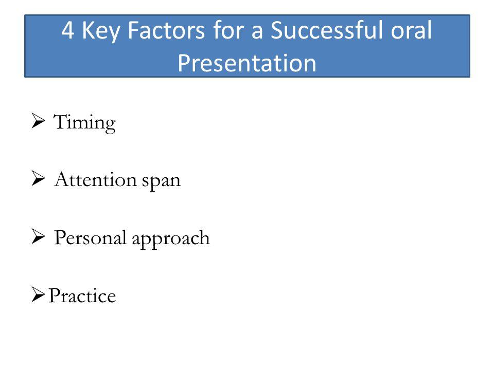 Successful Oral Presentation 72