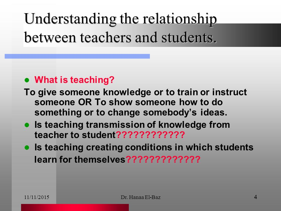 relationship between teaching and training