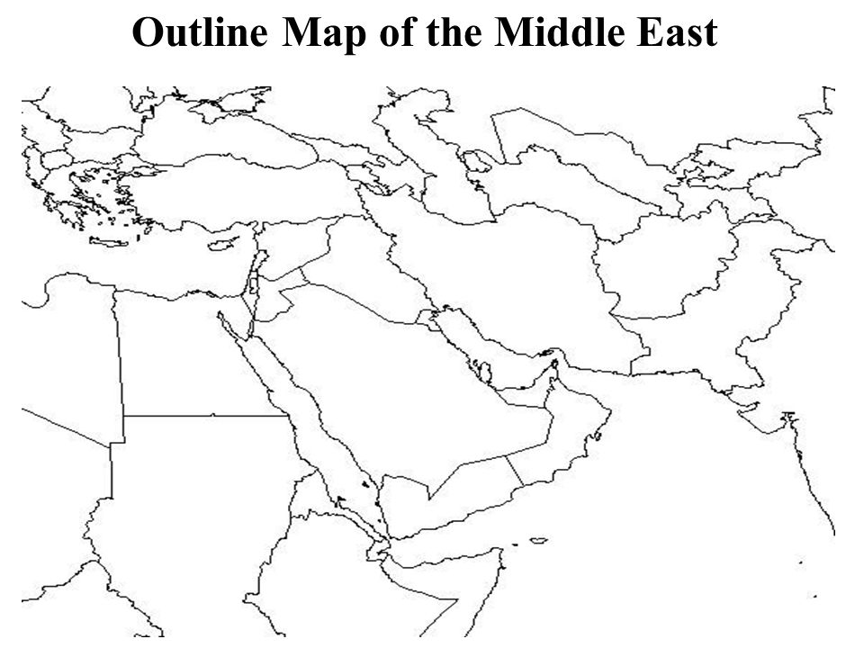 Outline Map of the Middle East  ppt download