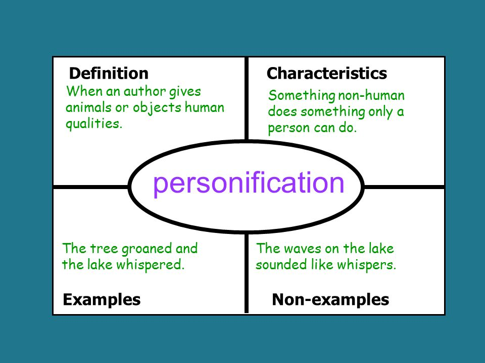 unit vocabulary of the standards ppt video online  13 personification definition characteristics