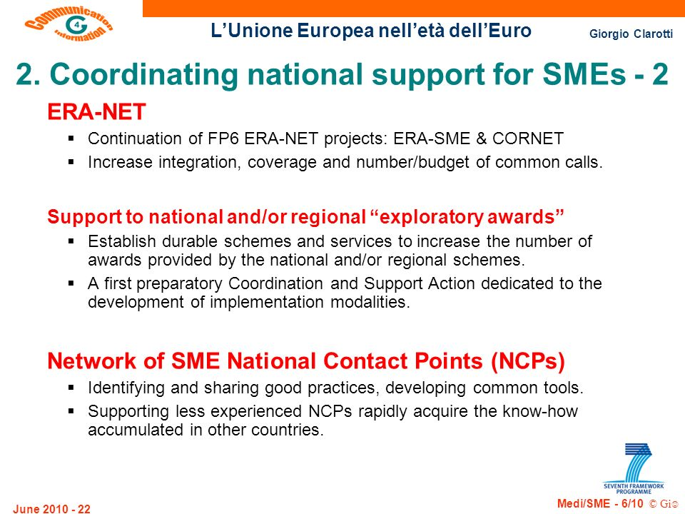 2. Coordinating national support for SMEs - 2