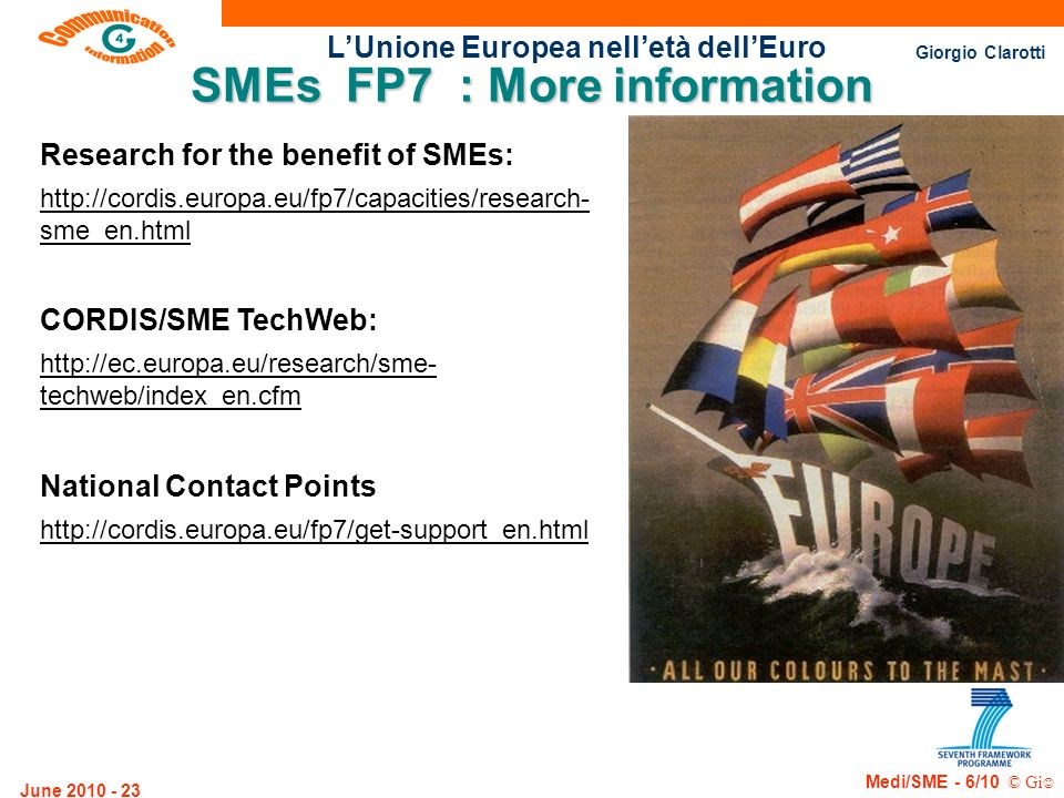 SMEs FP7 : More information