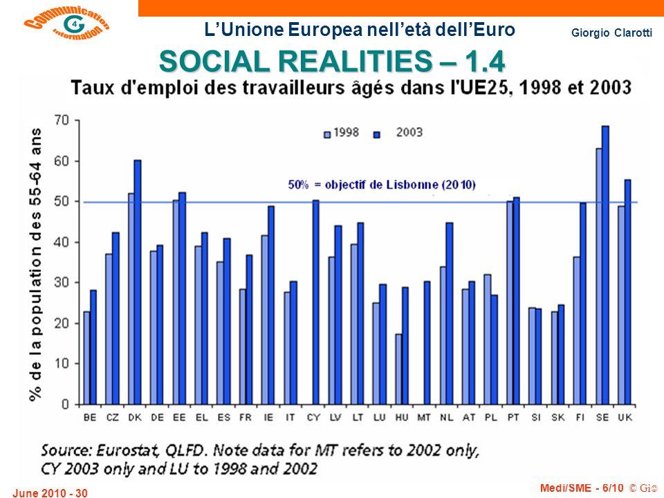 SOCIAL REALITIES – 1.4 June 2010 - 30