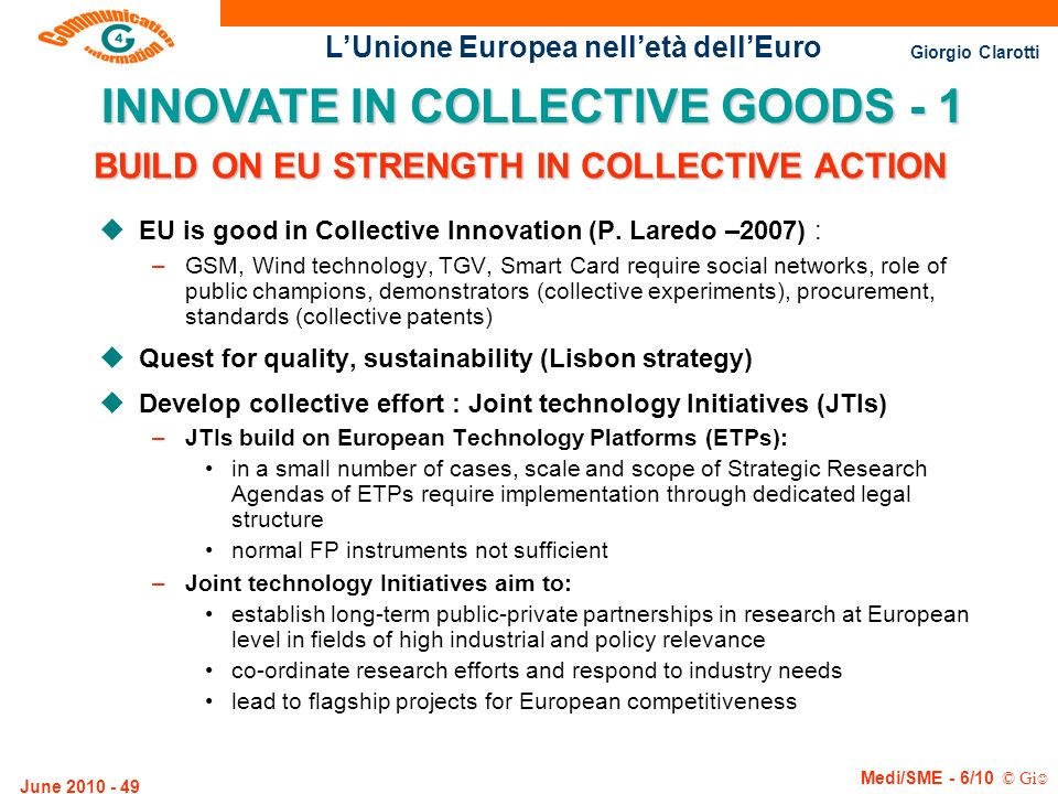 BUILD ON EU STRENGTH IN COLLECTIVE ACTION