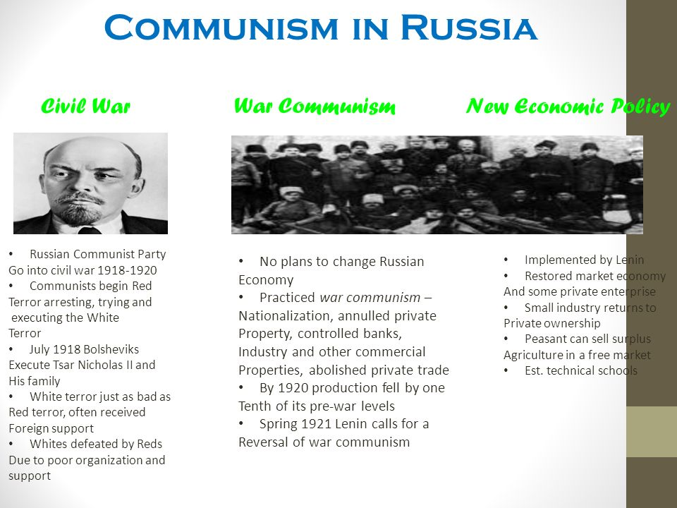 war communism and the new economic policy essay Russia had entered the war with universal popular enthusiasm among all  war  communism and replace it with the new economic policy.