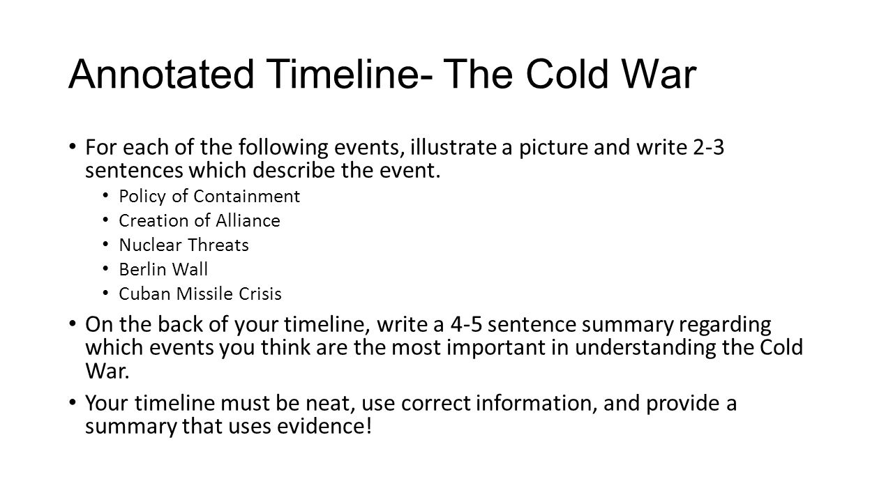 What events started and ended the Cold War?