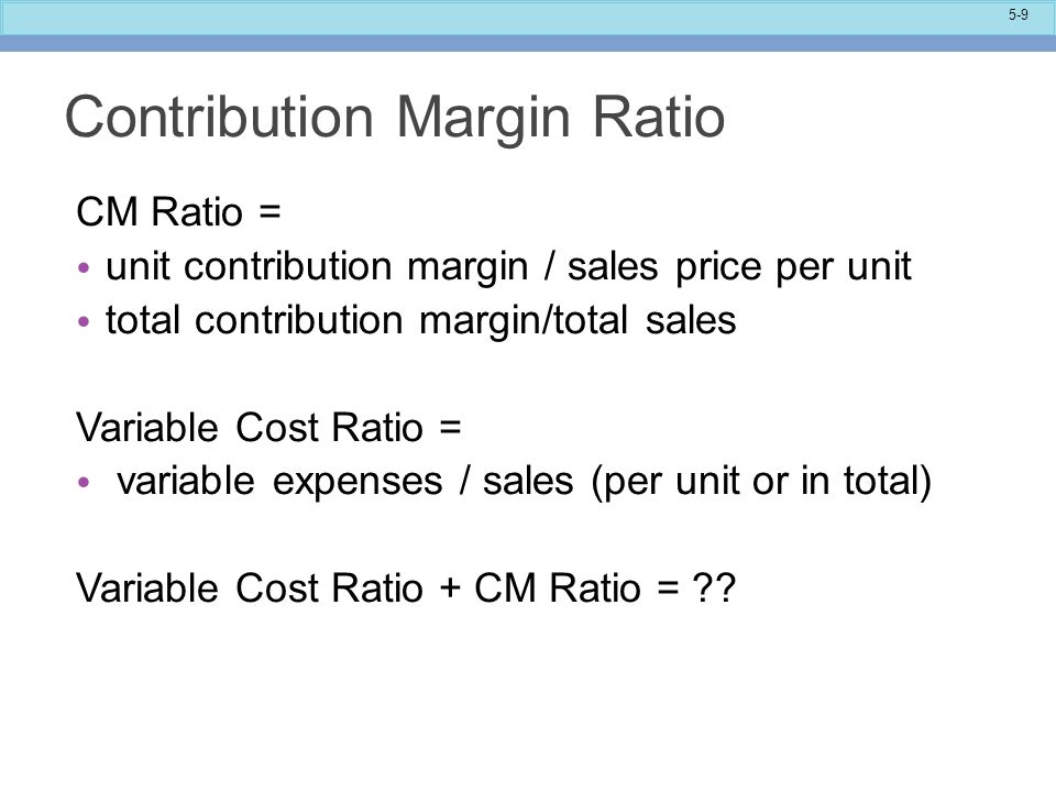 variable cost and contribution margin Contribution margin is the selling price per unit of an item minus the variable cost  per unit of that item it's the amount that is not used up on variable costs that.