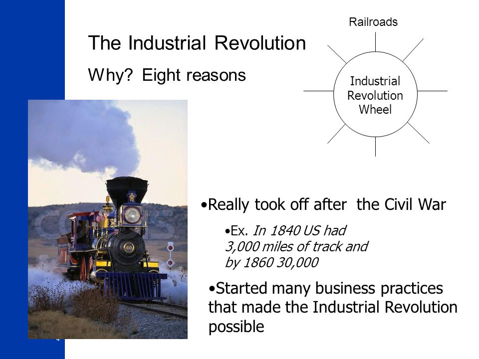 an introduction to the history and the reasons for industrial revolution Industrial revolutionhistory  causes of the industrial revolution: the end of  feudalism changes economic  01-introduction to ops mgt.