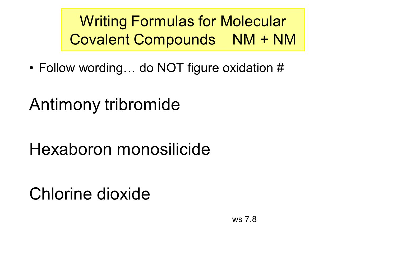 15: Writing Lewis Structures for Covalent Compounds