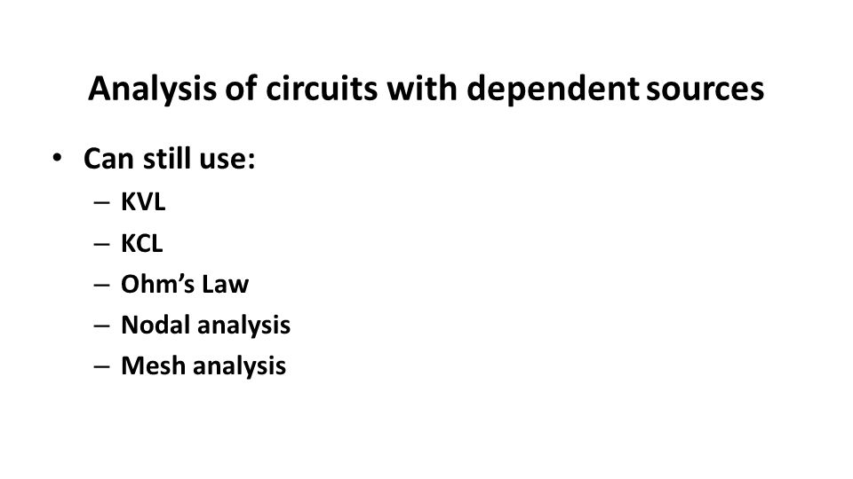 lecture 13 review  operational amplifier examples dependent sources