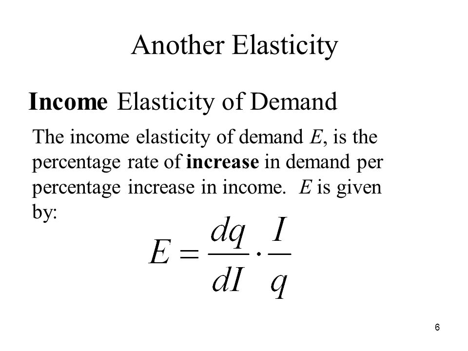 income elasticity of demand and its implications The patterns of price and income elasticity of energy demand the findings have policy implications as inelastic analysis on price elasticity of energy demand.