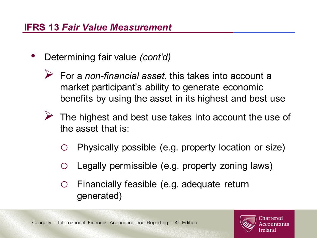 fair value accounting in ifrs financial Accounting for financial instruments: difficulties with fair value measurement and reporting keywords financial instruments, accounting, convergence, fair value measurement, wsbe, accounting and finance.