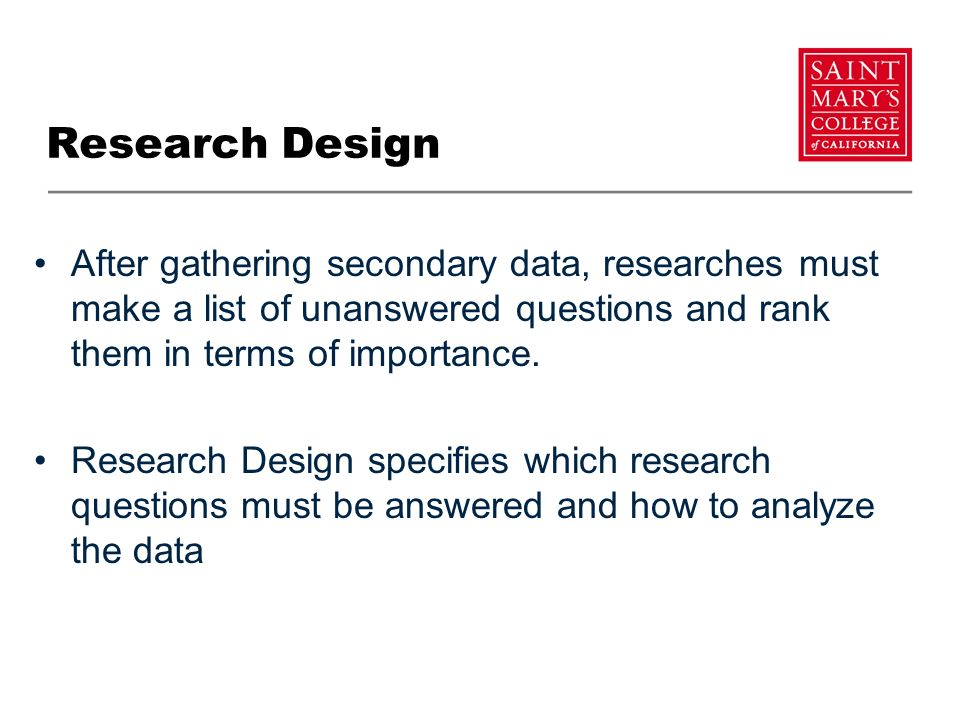 importance of research data Market research techniques: primary and secondary types of market research it is true that secondary research is important and time-saving but primary.