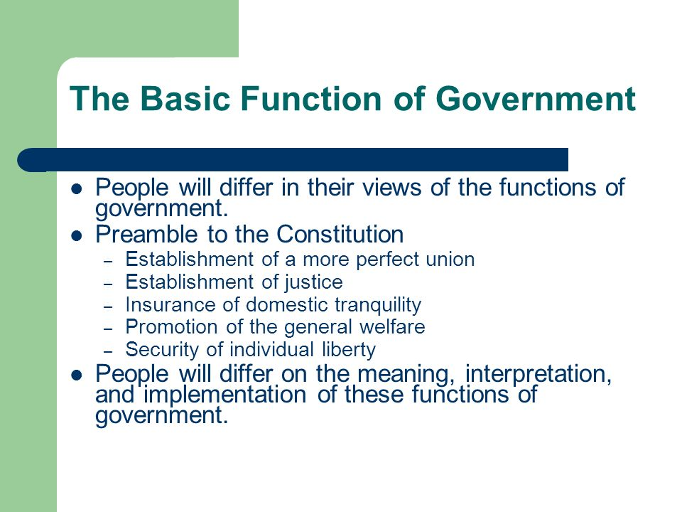 the purpose and role of the government These are the principles which, in my opinion, proclaim the proper role of government in the domestic affairs of the nation (i) the idea that government exists for the purpose of plundering those who work to give the product of their labor to those who do not work.