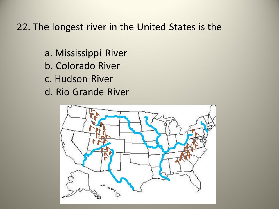 Major US Rivers And Mountains GMAS Review Ppt Video Online - Longest river in united states