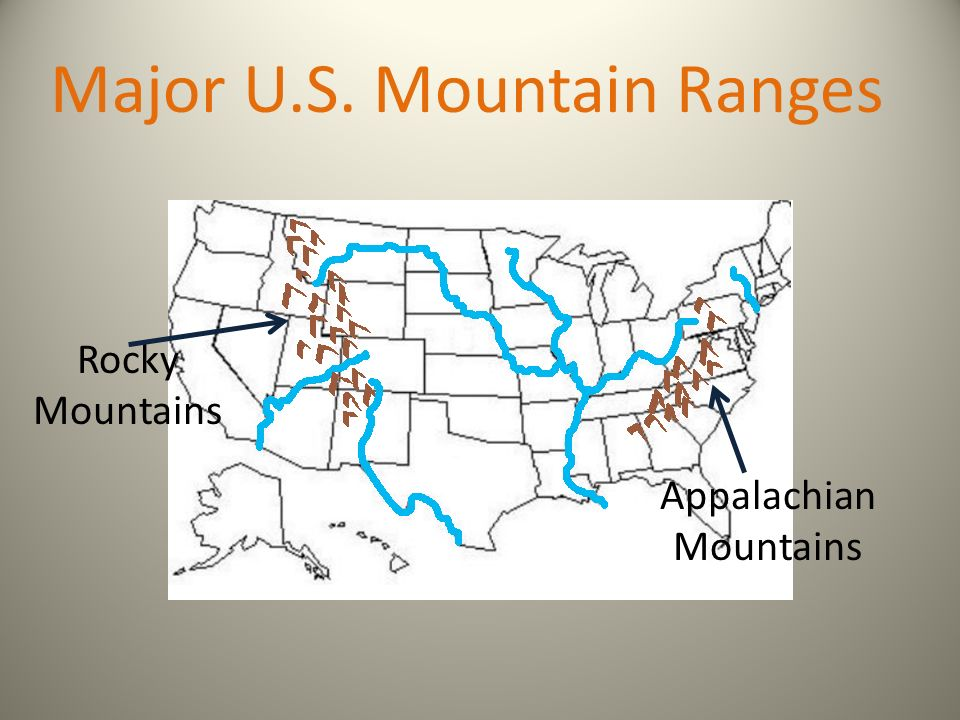 Major US Rivers And Mountains GMAS Review Ppt Video Online - Us major mountain ranges map