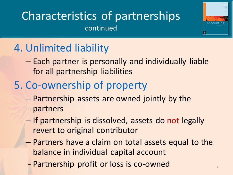 Accounting for partnerships ppt video online download for 6 characteristics of bureaucracy
