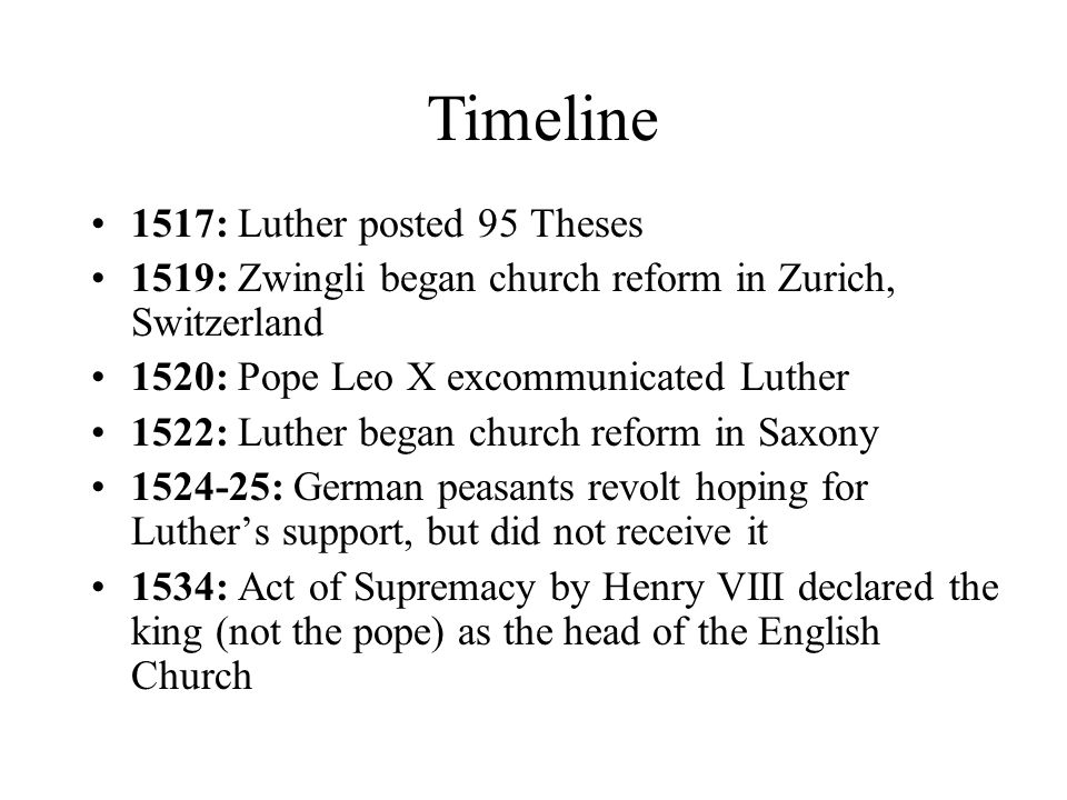 martin luther and the 95 theses timeline Martin luther and the reformation, a timeline made with timetoast' martin luther and the luther nailed the 95 theses on the door of the castle church.