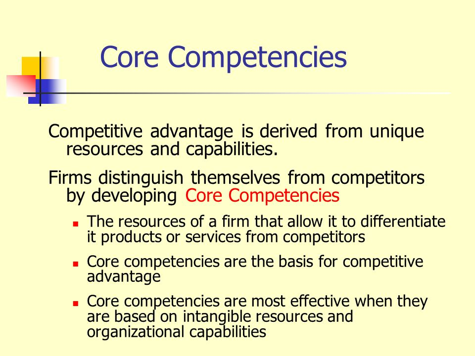 Four Methods of Competitive Advantages