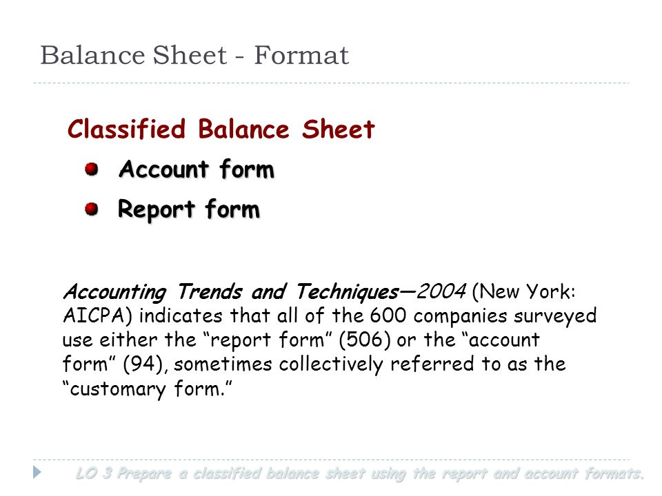 Doc6251047 Balance Sheet Classified Format Classified Balance – Balance Sheet Format Download