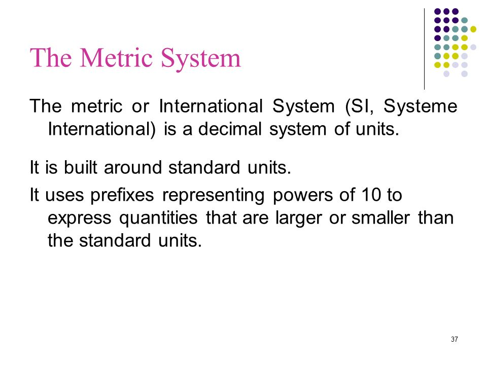 international system of units and decimal International system of units  international system, si, si system, si unit, systeme international, systeme international d'unites type of: metric system a decimal system of weights and measures based on the meter and the kilogram and the second word family usage examples.