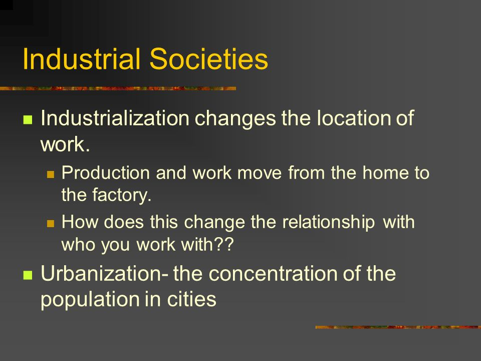 industrialization and urbanization relationship quizzes