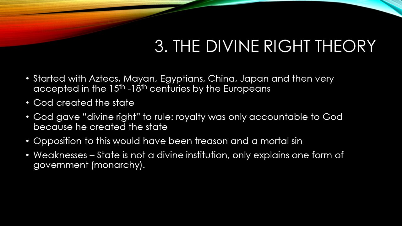 4 Theories that explain The origins of the state. - ppt ...