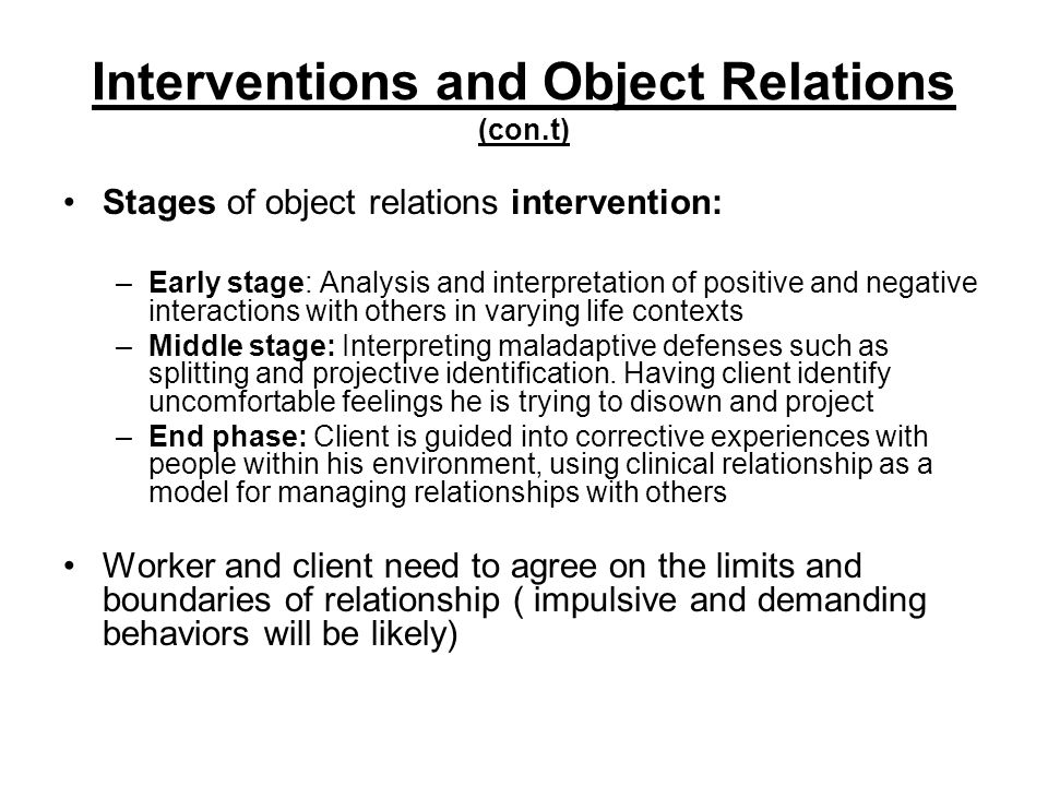 case study object relation theory Summary of case formulation using object relations theory ppt presentations: case formulation using object relations theory geoff goodman, phd i psychodynamic case formulation (perry, et al,) underlying understanding of, case formulation using object relations theory is great presentation for you if it's helpful for your subject then.