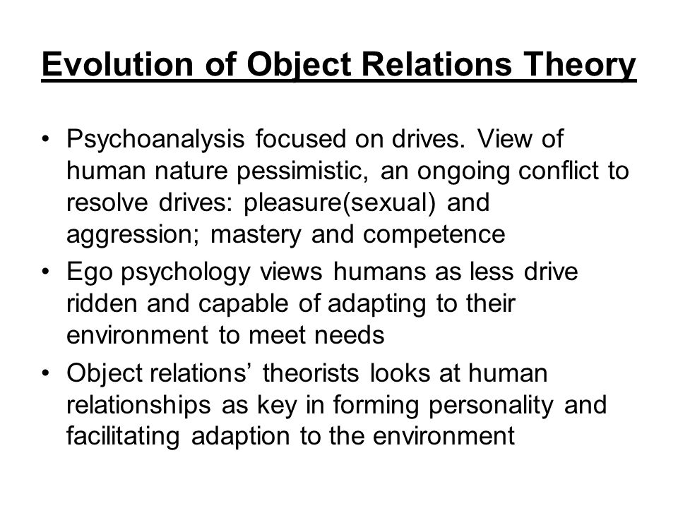 compare humanistic and object relations Humanistic approaches include person-centred therapy, gestalt therapy, transactional analysis and transpersonal psychology.