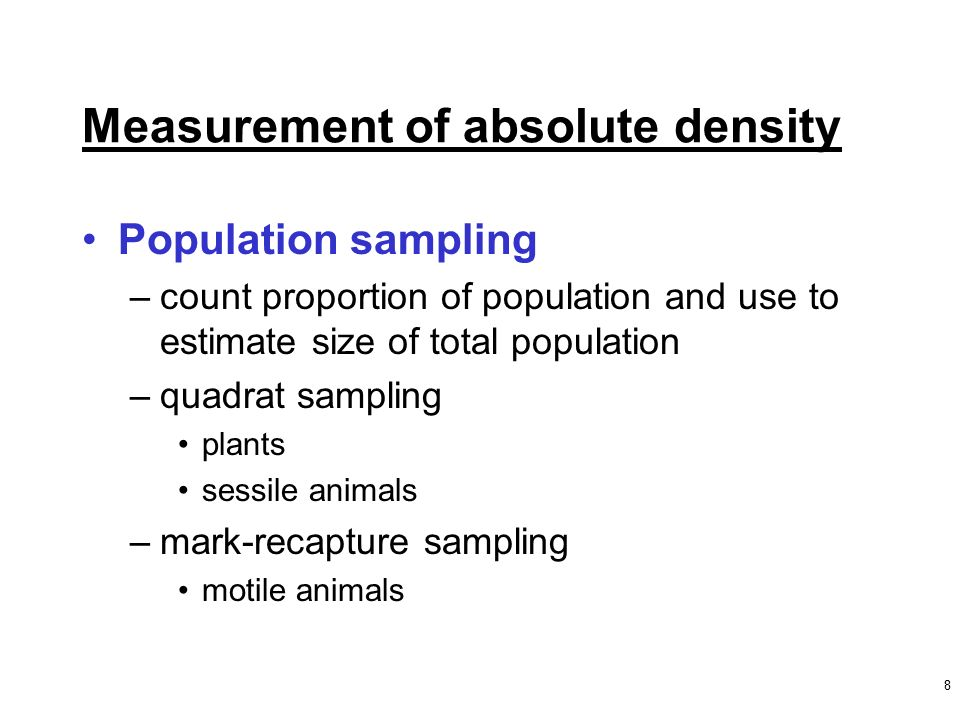 estimating plant population density time costs Difficulty: time required: very long (1+ months) prerequisites: background research on biomes, ecosystems, population density, and the basic needs of plants.