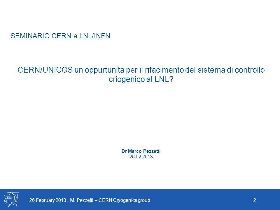 SEMINARIO CERN a LNL/INFN