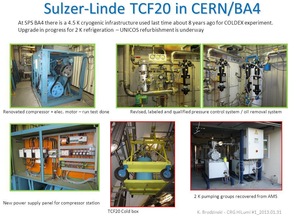 Sulzer-Linde TCF20 in CERN/BA4