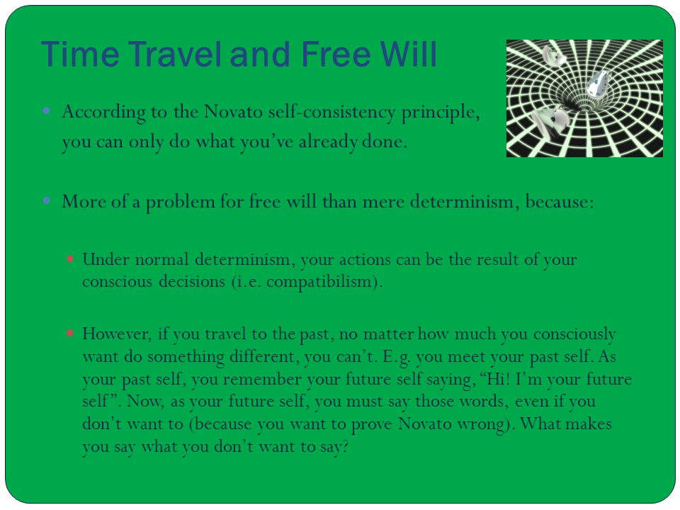 Time Travel and Free Will